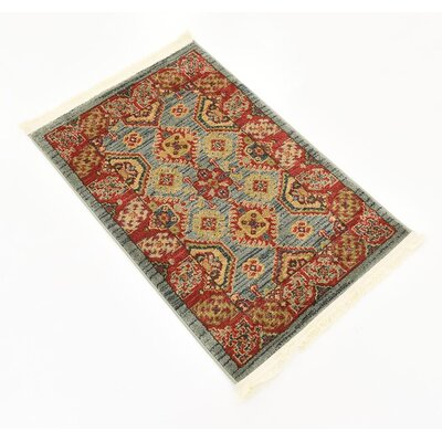 Valley Red Area Rug Rug Size: Rectangle 3 x 22