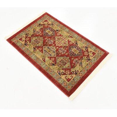 Jana Red Tibetan Area Rug Rug Size: Rectangle 3 x 22