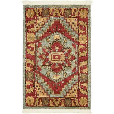 Jana Red Oriental Area Rug Rug Size: Square 4