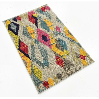 Broadway Beige/Yellow Area Rug Rug Size: 2 x 3