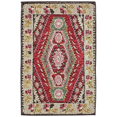 Broadway Red/Brown Area Rug Rug Size: 2 x 3
