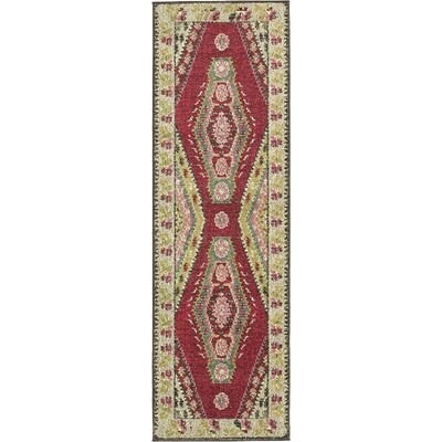Broadway Red/Brown Area Rug Rug Size: Runner 22 x 67
