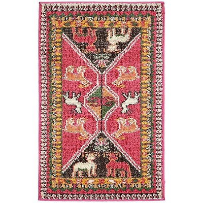 Broadway Pink Area Rug Rug Size: 2 x 3
