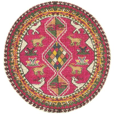 Broadway Pink Area Rug Rug Size: Round 33