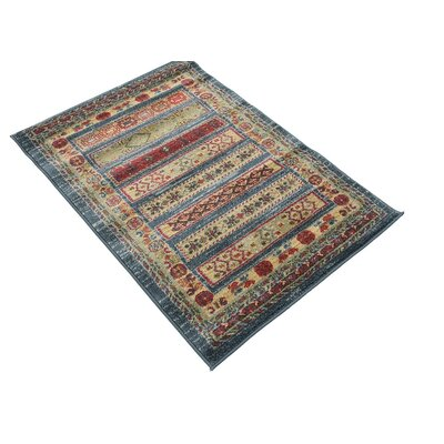 One-of-a-Kind Foret Noire Machine Woven Polypropylene Blue Area Rug Rug Size: Rectangle 22 x 3