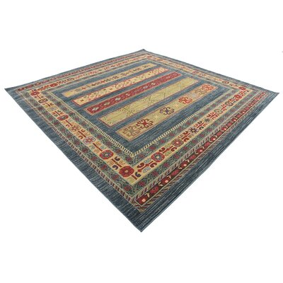One-of-a-Kind Foret Noire Machine Woven Polypropylene Blue Area Rug Rug Size: Rectangle 8 x 8