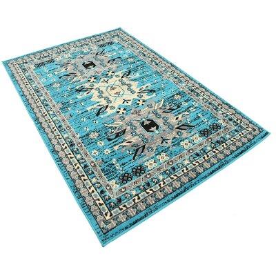 Lerma Turquoise Area Rug Rug Size: 4 x 6