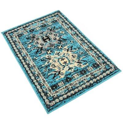 Lerma Turquoise Area Rug Rug Size: 22 x 3