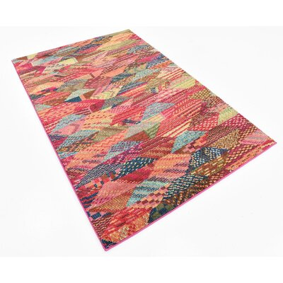 Broadway Red Area Rug Rug Size: 4 x 6