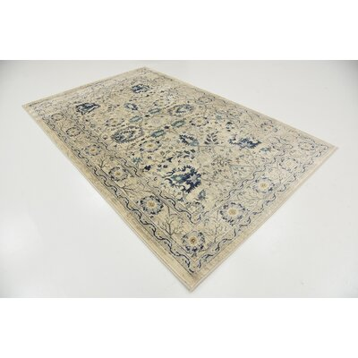 Geleen Beige Area Rug Rug Size: Rectangle 5 x 8