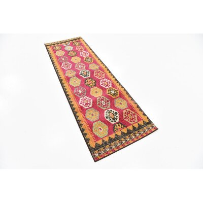 Phillips Red Area Rug Rug Size: Runner 22 x 67