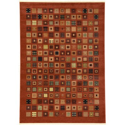 Jan Brown Area Rug Rug Size: 7 x 10