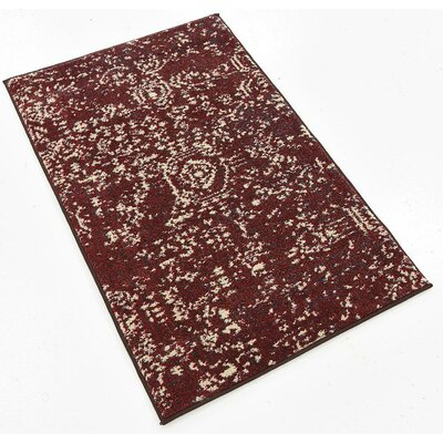 Broadway Red Area Rug Rug Size: 2 x 3