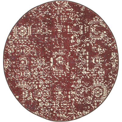 Broadway Red Area Rug Rug Size: Round 33
