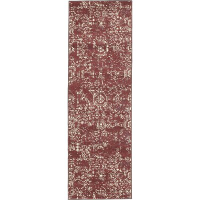 Isabel Red Area Rug Rug Size: 2 x 3