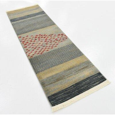 Bhakta Gray Area Rug Rug Size: Runner 2 x 6