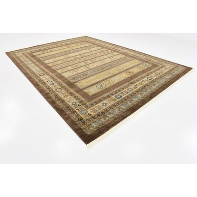 Foret Noire Brown Area Rug Rug Size: Rectangle 7 x 10