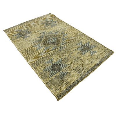 Jan Gold Area Rug Rug Size: 39 x 55