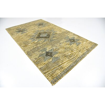 Jan Gold Area Rug Rug Size: 5 x 8