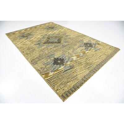 Bhakta Gold Area Rug Rug Size: 6 x 9