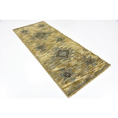 Bhakta Gold Area Rug Rug Size: Runner 29 x 67