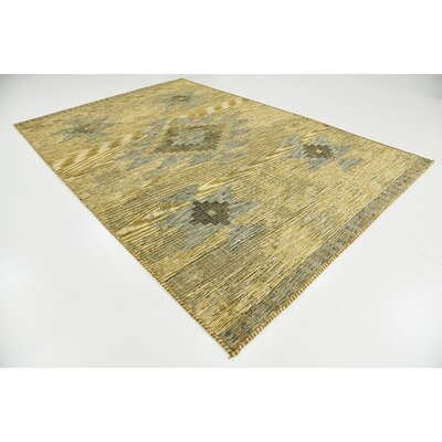 Jan Gold Area Rug Rug Size: Rectangle 7 x 10