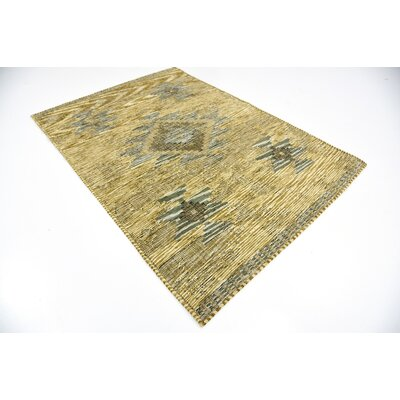 Jan Gold Area Rug Rug Size: 49 x 67