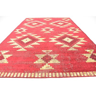 Bhakta Red Area Rug Rug Size: 9'10