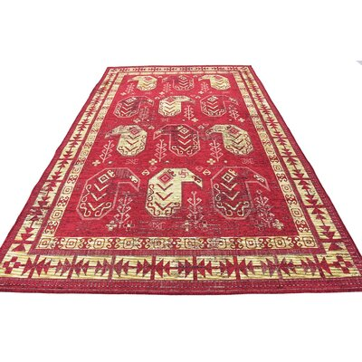 Bhakta Red Area Rug Rug Size: 6' x 9'