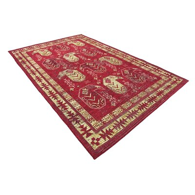 Bhakta Red Area Rug Rug Size: 6 x 9