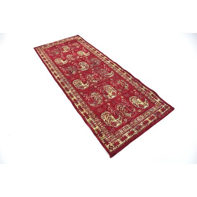 Bhakta Red Area Rug Rug Size: Runner 29 x 67