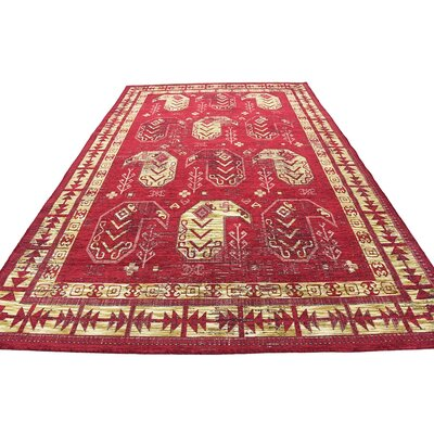 Bhakta Red Area Rug Rug Size: 7' x 10'