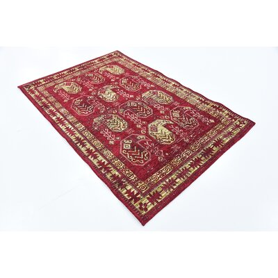 Bhakta Red Area Rug Rug Size: 3'9