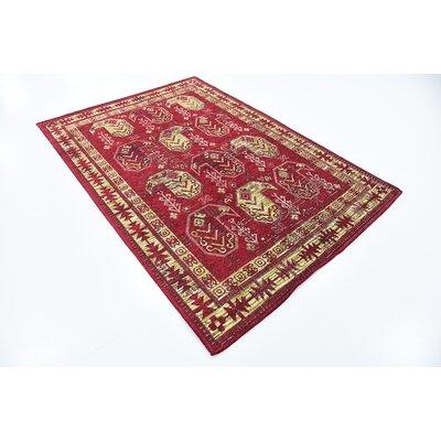 Bhakta Red Area Rug Rug Size: 49 x 67
