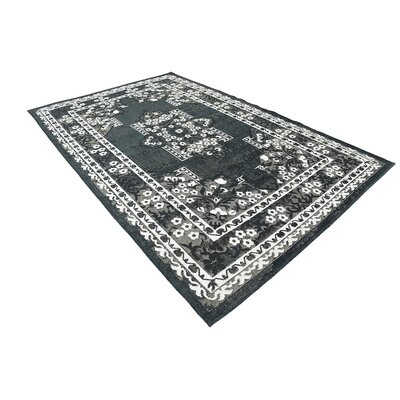 Jan Black Area Rug Rug Size: 6 x 9