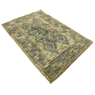 Bhakta Green Area Rug Rug Size: 39 x 55