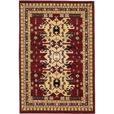 Lerma Red Area Rug Rug Size: 4 x 6