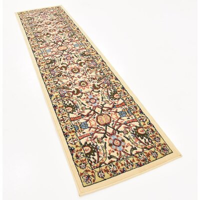 Anfa Cream Area Rug Rug Size: Runner 27 x 10