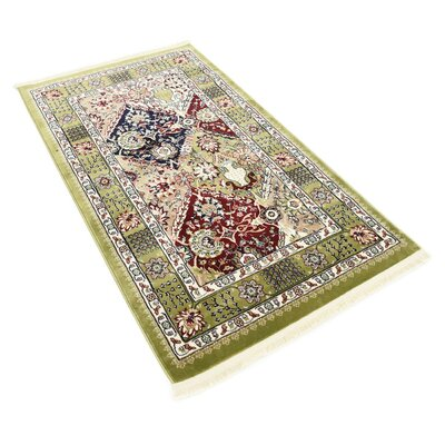 Aston Green Area Rug Rug Size: 3 x 5
