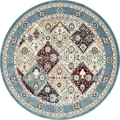 Jadyn Blue Area Rug Rug Size: Round 10