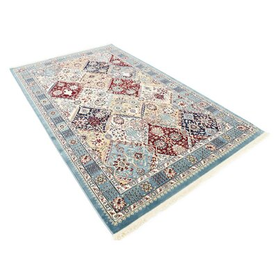 Jadyn Blue Area Rug Rug Size: Rectangle 5' x 8'