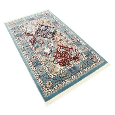 Jadyn Blue Area Rug Rug Size: Rectangle 13 x 198