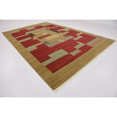 Jan Brown/Red Area Rug Rug Size: 106 x 165