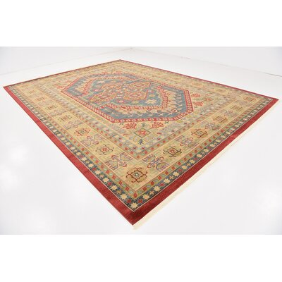Zoey Red Area Rug Rug Size: Rectangle 122 x 16