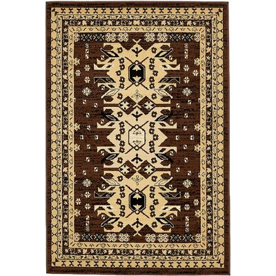 Valley Brown Area Rug Rug Size: 4 x 6
