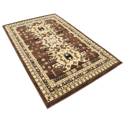 Valley Brown Area Rug Rug Size: Rectangle 4 x 6