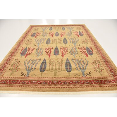 Virginia Mustard/Orange Area Rug Rug Size: Rectangle 8 x 10