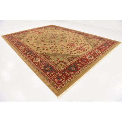Zoey Light Brown Area Rug Rug Size: Rectangle 122 x 16