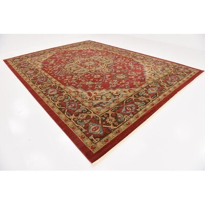 Lerma Red Area Rug Rug Size: 122 x 16