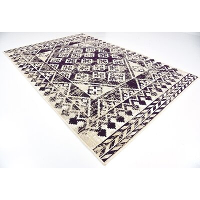 Jan Purple Area Rug Rug Size: 7 x 10